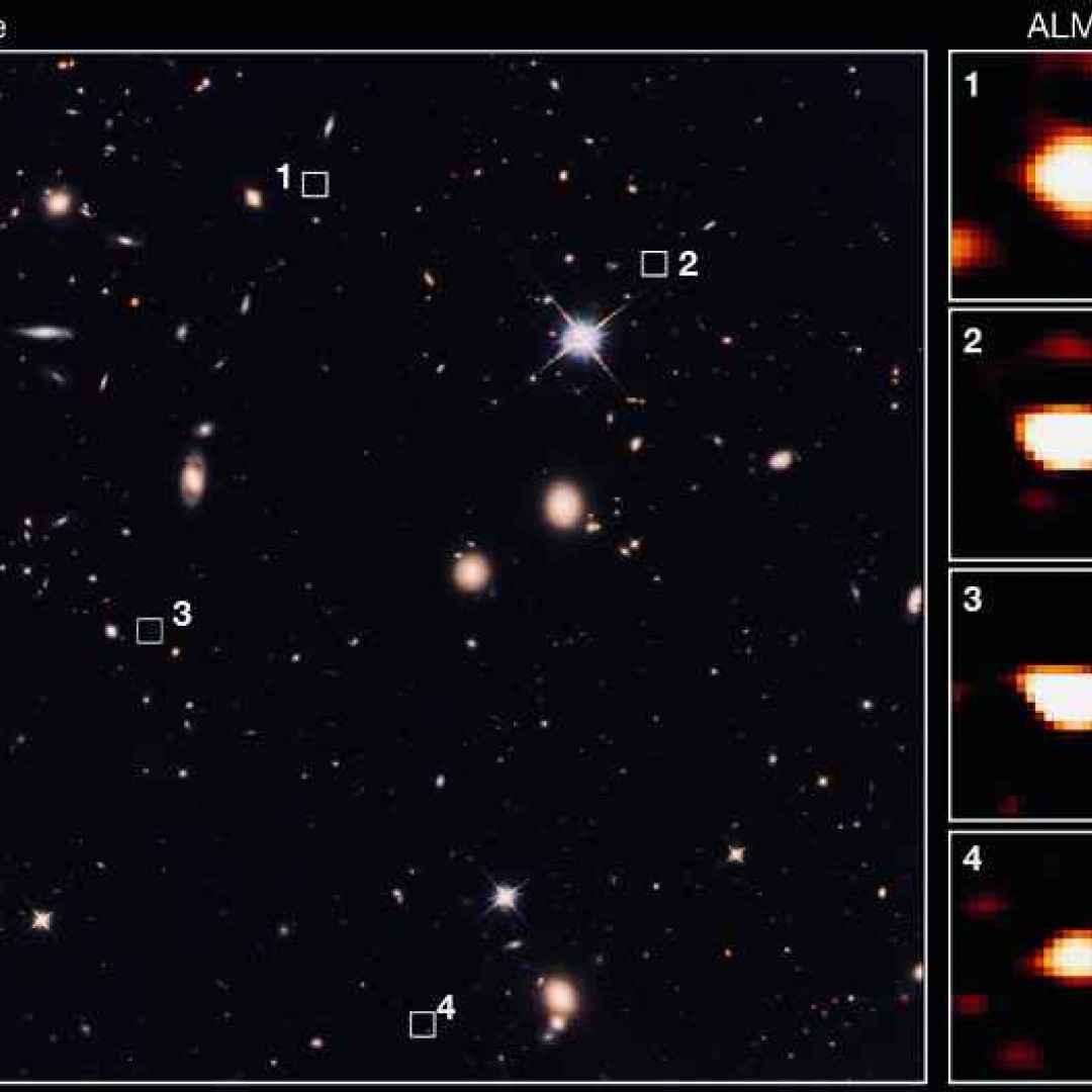 galassie  alma  vlt  hubble  spitzer