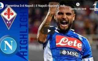 Serie A: fiorentina napoli video gol calcio