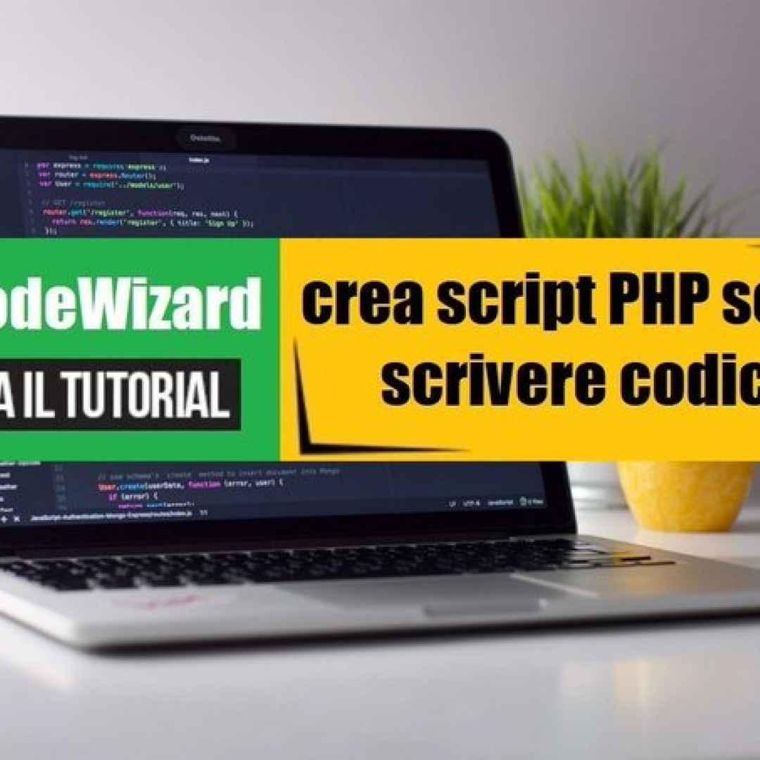 php generatore di script creare web app