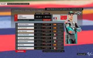 MotoGP: GRAN PREMIO DI SAN MARINO FP3: QUARTARARO RISPONDE A VINALES