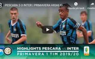 Serie minori: pescara inter video gol calcio