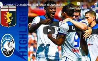 Serie A: genoa atalanta video gol calcio