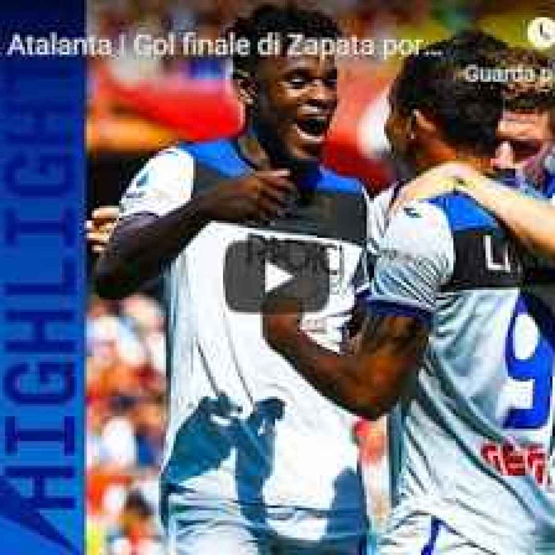 genoa atalanta video gol calcio