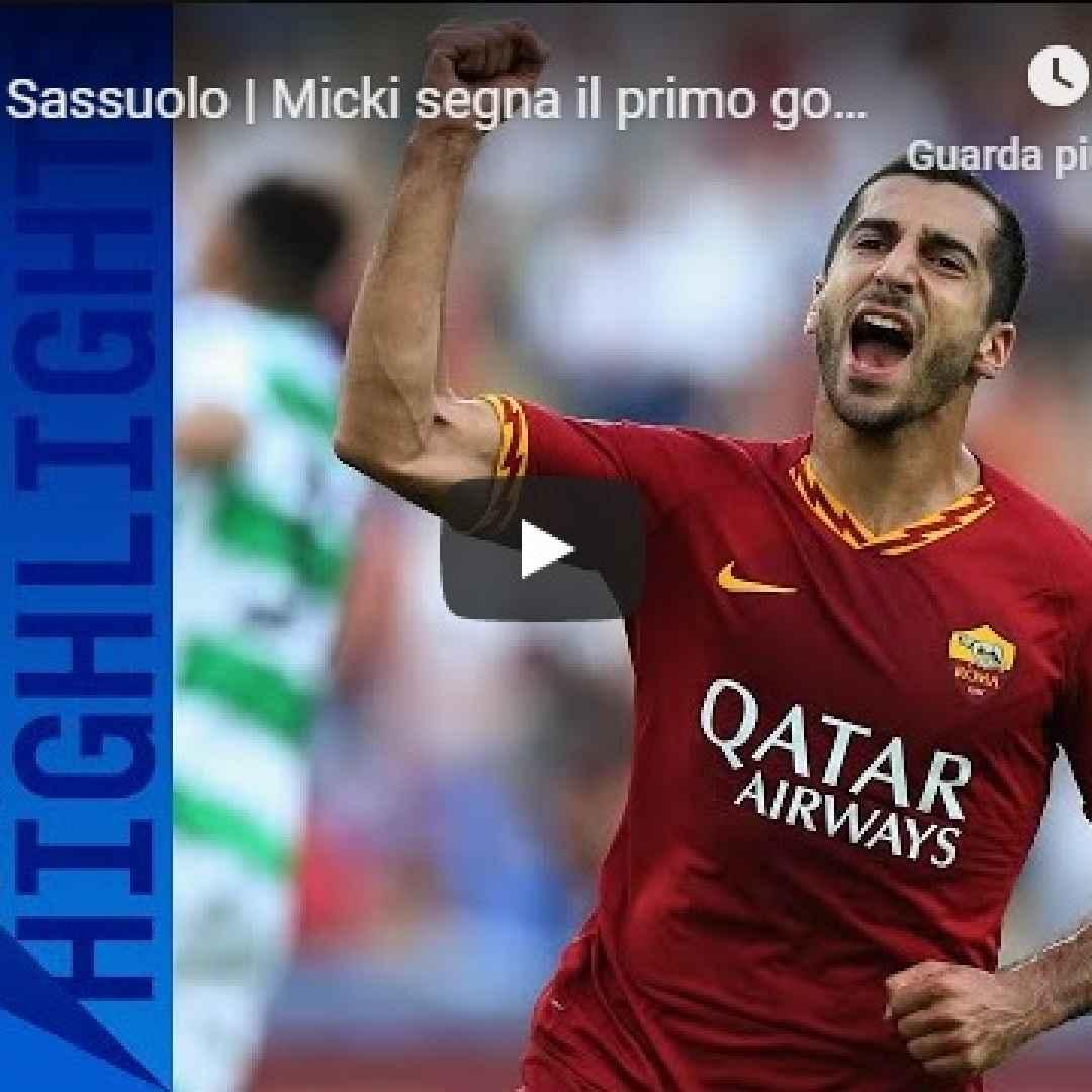 roma sassuolo video gol calcio