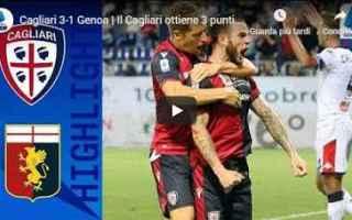 Serie A: cagliari genoa video gol calcio