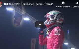Formula 1: ferrari leclerc pole video formula 1