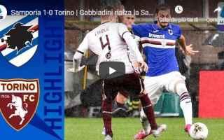 Serie A: sampdoria torino video gol calcio