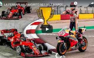 Motori: video ferrari formula 1 moto gp vettel