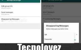 WhatsApp: whatsapp messaggi che si autodistruggono