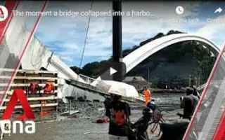 taiwan ponte video disastro cronaca