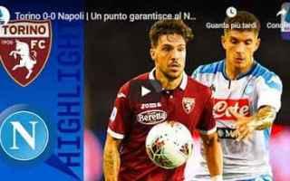 Serie A: torino napoli video gol calcio