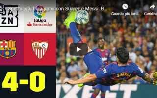 Calcio Estero: barcellona siviglia video gol calcio