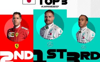 Valtteri Bottas vince il Gran Premio del Giappone, tornando alla vittoria a distanza di 6 mesi da qu