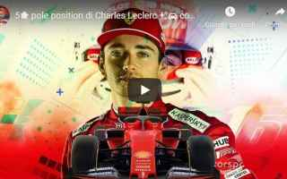 ferrari leclerc pilota motori video
