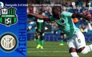 Serie A: sassuolo inter video gol calcio