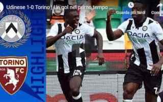 Serie A: udinese torino video gol calcio