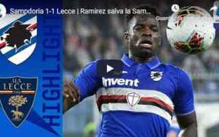 Serie A: sampdoria lecce video gol calcio