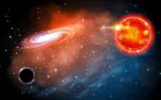 Astronomia: buco nero  gigante rossa