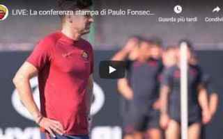 Serie A: roma video conferenza calcio fonseca