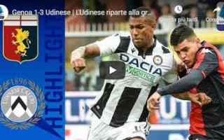 Serie A: genoa udinese video gol calcio
