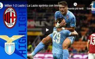 Serie A: milan lazio video gol calcio