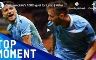 Serie A: lazio immobile video gol calcio