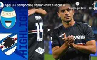 spal sampdoria video calcio gol