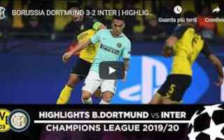 inter borussia video gol calcio