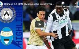 Serie A: udinese spal video gol calcio
