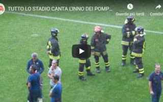 Calcio: tifosi stadio ultras pompieri video