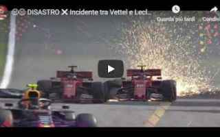 ferrari leclerc vettel motori video
