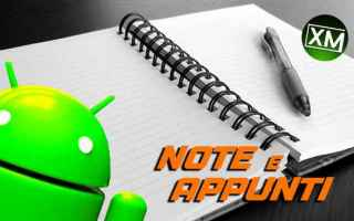 Android: android note appunti lavoro apps blog