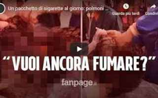 fumare fumo polmoni video virale