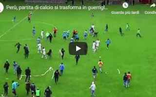 video rissa calcio perù calcio