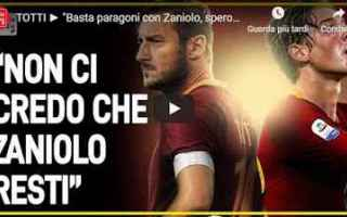 Serie A: roma totti zaniolo video intervista