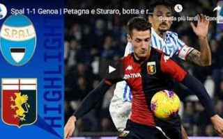 Serie A: spal genoa video calcio gol