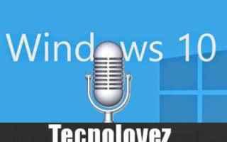 windows 10  disattivare microfono