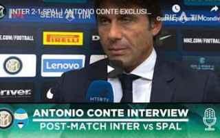 Serie A: inter spal video conte calcio