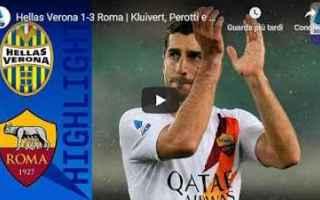 Serie A: verona roma video gol calcio