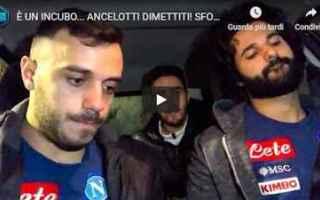 Calcio: napoli tifosi ancelotti video calcio