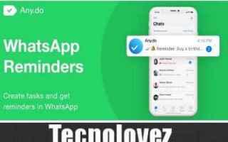 whatsapp  come creare dei promemoria