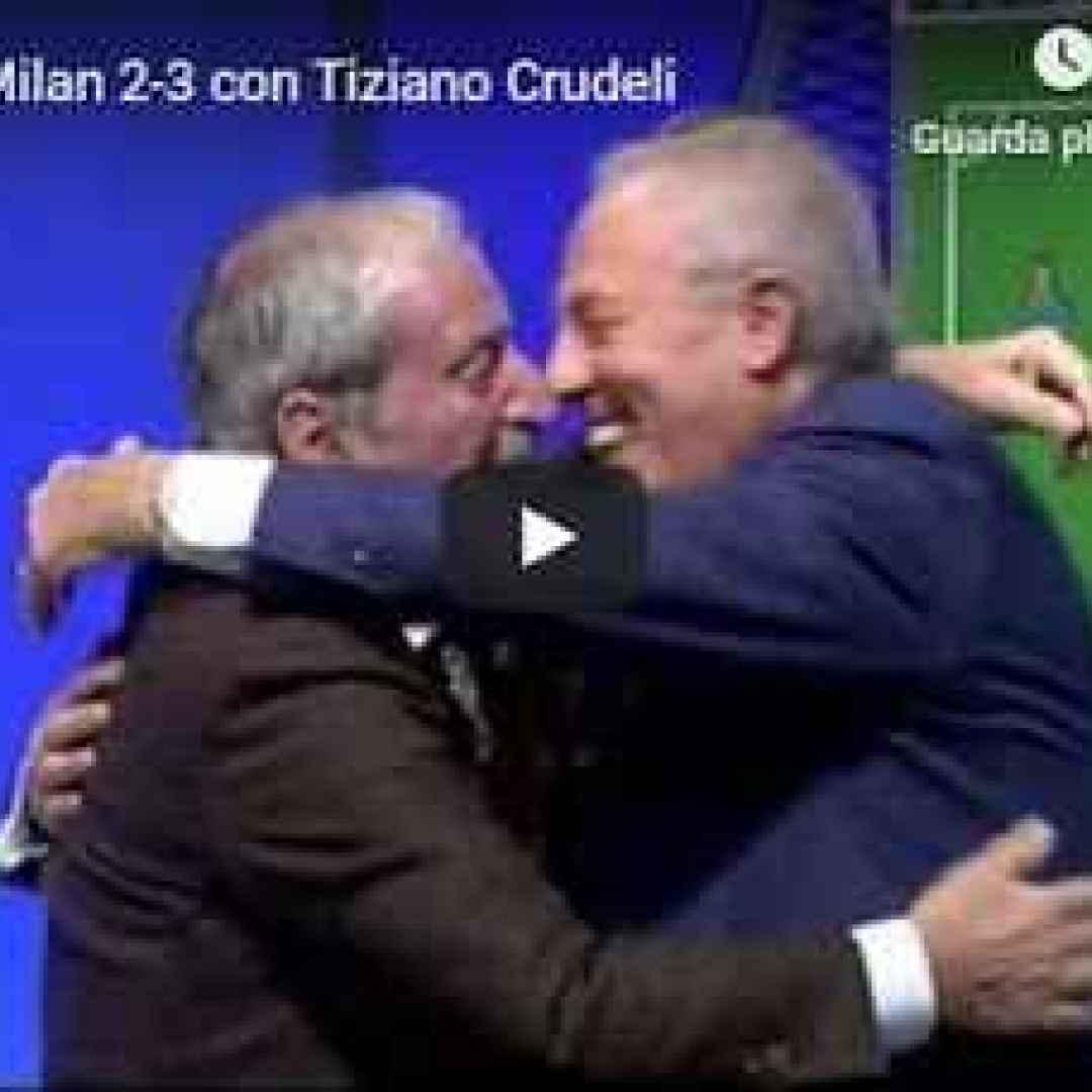 Bologna Milan 2-3 con Tiziano Crudeli - VIDEO (Milan)