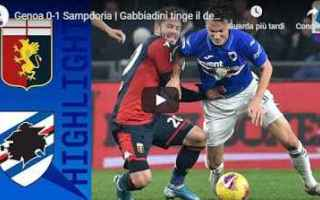 genoa sampdoria video gol calcio