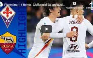 Serie A: fiorentina roma video gol calcio