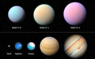Astronomia: kepler 51  esopianeti  hubble
