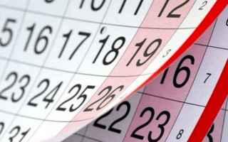 Lavoro: 2020  ponti  calendario