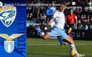 Serie A: brescia lazio video gol calcio