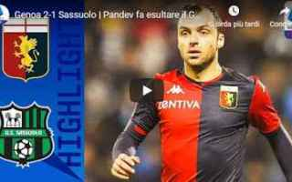 genoa sassuolo video gol calcio
