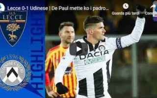 lecce udinese video gol calcio