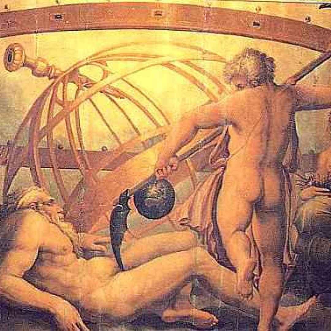 iperione  mitologia  rea  urano  vasari